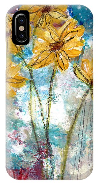 Sketch Book iPhone Case - Wild Sunflowers- Art By Linda Woods by Linda Woods