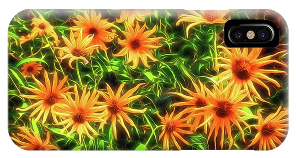 IPhone Case featuring the photograph Wild Sunflowers Electrify by Anna Louise