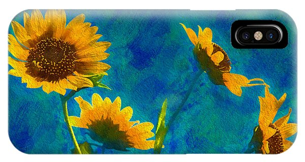 Wild Sunflowers Singing IPhone Case
