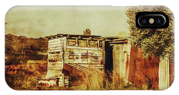 Exterior iPhone Case - Wild West Australian Barn by Jorgo Photography - Wall Art Gallery