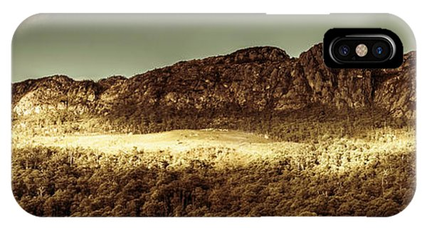 Stone Wall iPhone Case - Wild West Mountain Panorama by Jorgo Photography - Wall Art Gallery