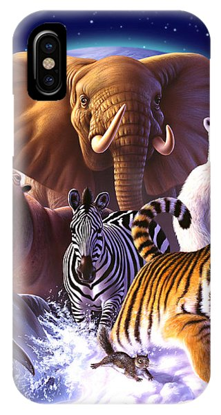 Tiger iPhone Case - Wild World by Jerry LoFaro