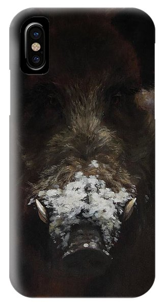 Wildboar With Snowy Snout IPhone Case