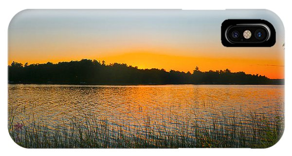 Wilderness Point Sunset Panorama IPhone Case