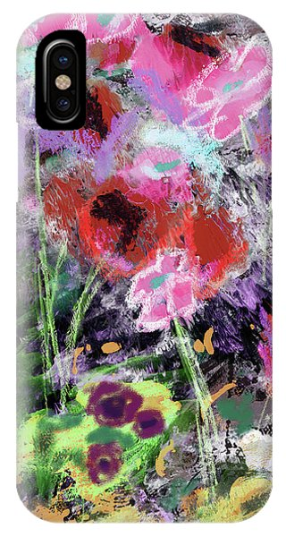 Contemporary iPhone Case - Wildest Flowers 2- Art By Linda Woods by Linda Woods