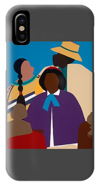 iPhone X Case - Wildfire A Tribute To Edmonia Lewis by Synthia SAINT JAMES