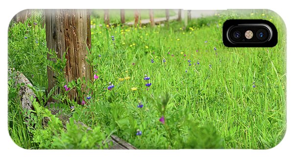 iPhone Case - Wildflower Fence by Kathy Yates