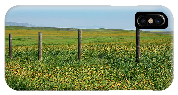 iPhone Case - Wildflower Fence Posts by Kathy Yates