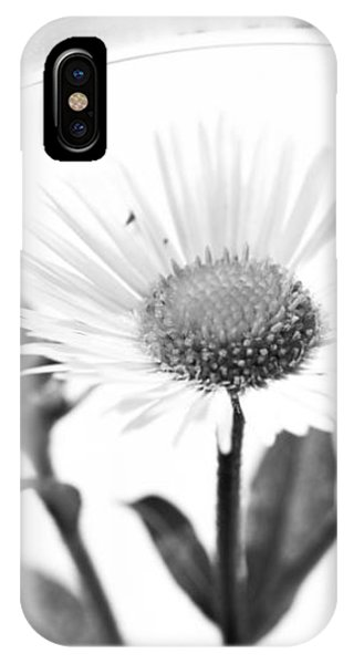 Wildflower In A Wine Glass Black And White IPhone Case
