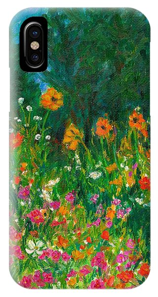 IPhone Case featuring the painting Wildflower Rush by Kendall Kessler