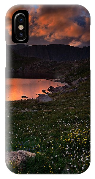 Fourteener iPhone Case - Wildflower Sunset At Summit Lake by Mike Berenson