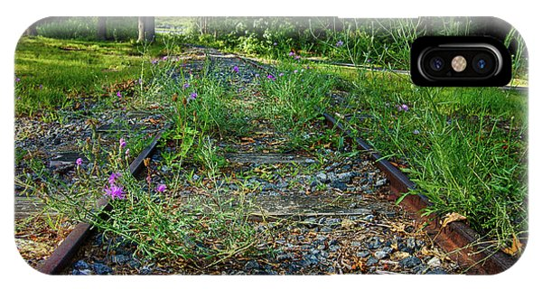Roxbury iPhone Case - Wildflowers Along The Tracks by Mark Miller