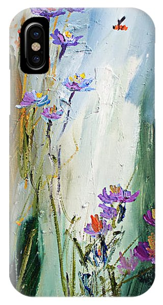 Wildflowers And Bees Oil Painting IPhone Case