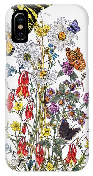 Wildflowers And Butterflies Of The Valley IPhone Case