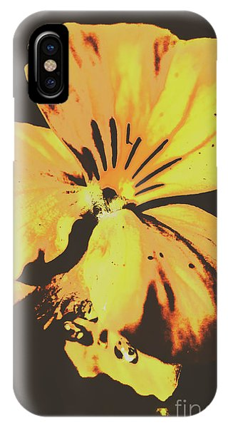 Garden Wall iPhone Case - Wildflowers In Posterization by Jorgo Photography - Wall Art Gallery