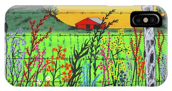Wildflowers On The Farm IPhone Case