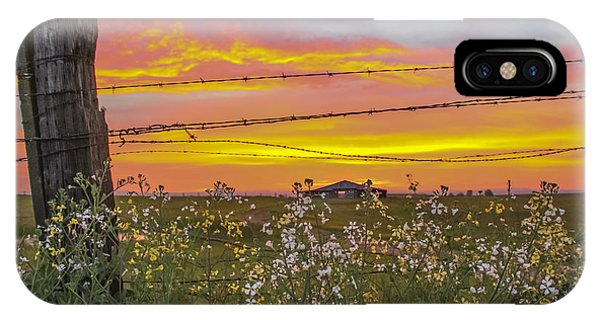 Wildflowers On The Ranch IPhone Case