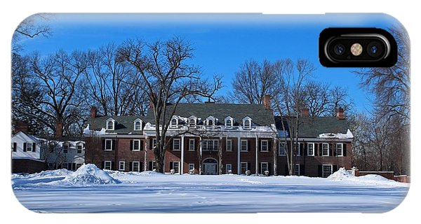Wildwood Manor House In The Winter IPhone Case