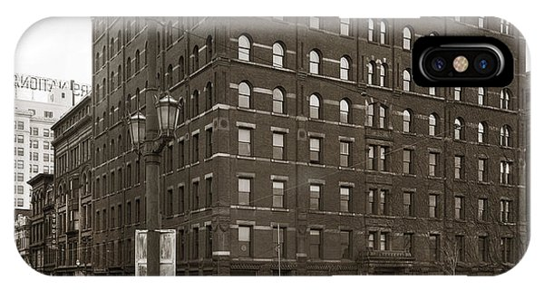 Wilkes Barre Pa Hollenback Coal Exchange Building Corner Of Market And River Sts April 1937 IPhone Case