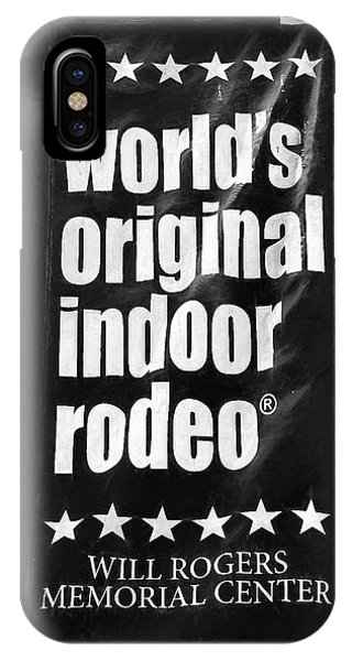 Will Rogers Rodeo Bw IPhone Case
