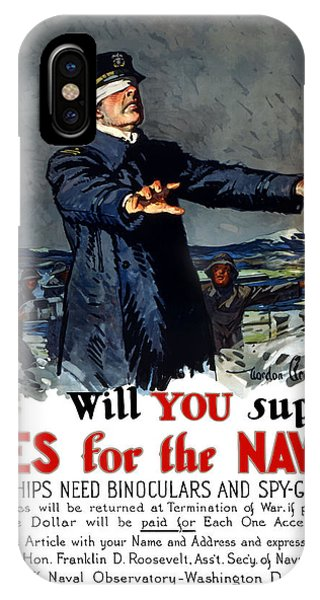 Wwi iPhone Case - Will You Supply Eyes For The Navy by War Is Hell Store