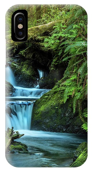 IPhone Case featuring the photograph Willaby Creek Falls - Quinault Rainforest by Expressive Landscapes Fine Art Photography by Thom