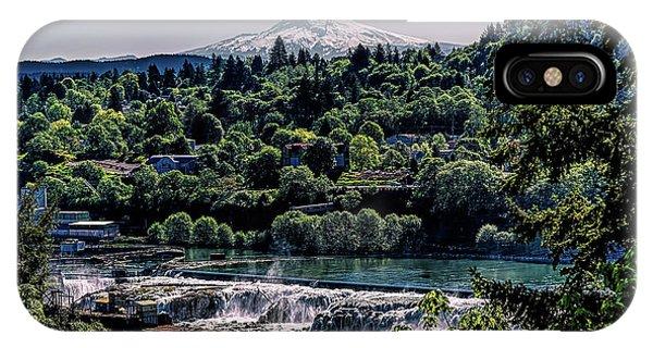 Willamette River Falls Locks IPhone Case