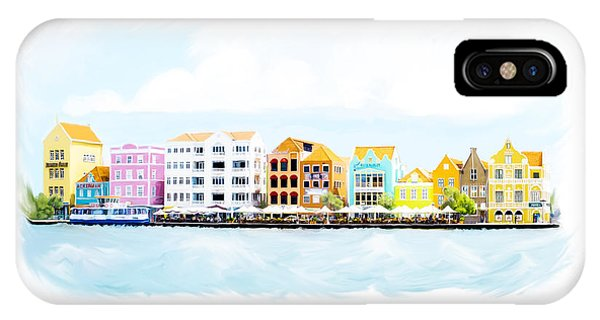 Willemstad Curacao Skyline IPhone Case
