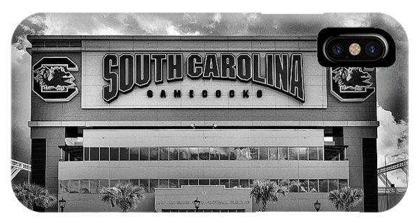 Gamecocks iPhone Case - Williams Brice Stadium Bnw, Sc, Usa by Skip Willits