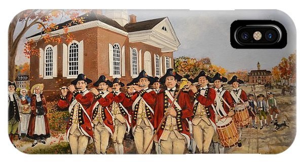 Courthouse iPhone Case - Williamsburg Fife And Drum  by Ebb Pate