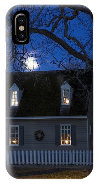 Williamsburg House In Moonlight IPhone Case