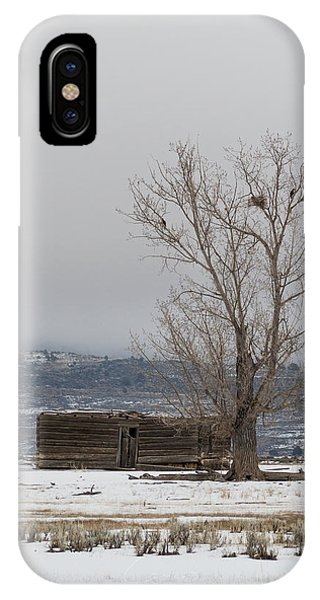Willow Creek Cabin IPhone Case