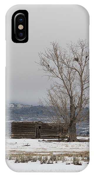 IPhone Case featuring the photograph Willow Creek Cabin by The Couso Collection
