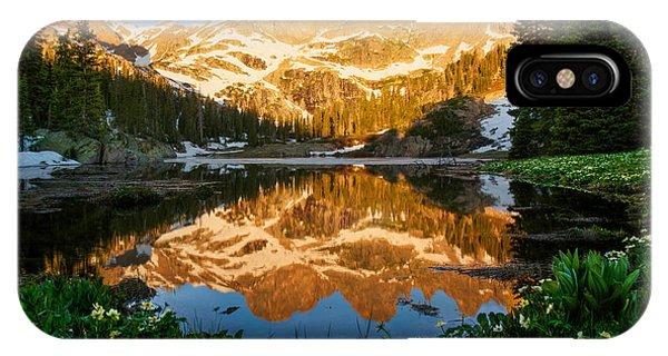 Willow Lake Sunrise IPhone Case