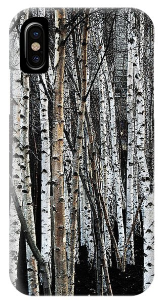 IPhone Case featuring the digital art Birch by Julian Perry