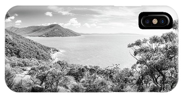 Wilsons Promontory iPhone Case - Wilsons Promontory Panorama Black And White by Tim Hester