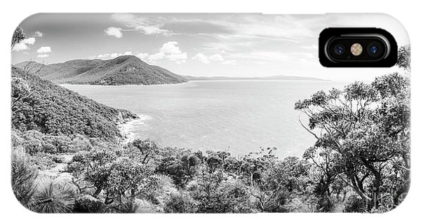 IPhone Case featuring the photograph Wilsons Promontory Panorama Black And White by Tim Hester