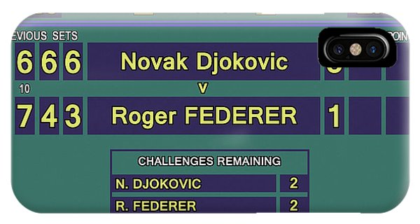 Venus Williams iPhone Case - Wimbledon 2015 Final Djokovic V Federer by Carlos Vieira