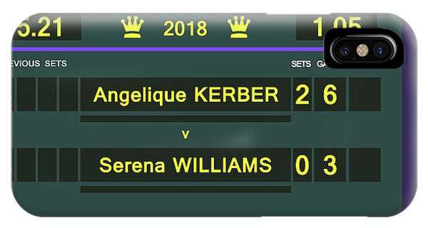 Venus Williams iPhone Case - Wimbledon Scoreboard - Customizable - 2017 Muguruza by Carlos Vieira