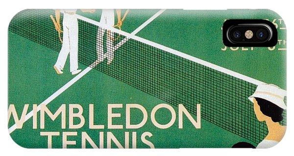 Wimbledon Tennis Southfield Station - London Underground - Retro Travel Poster - Vintage Poster IPhone Case