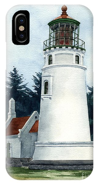 Lighthouse Wall Decor iPhone Case - Winchester Bay Lighthouse by David Rogers