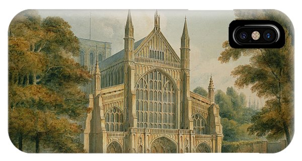 1851 iPhone X Case - Winchester Cathedral by John Buckler