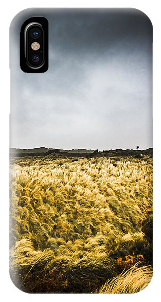 Wind Blown Grassland  IPhone Case