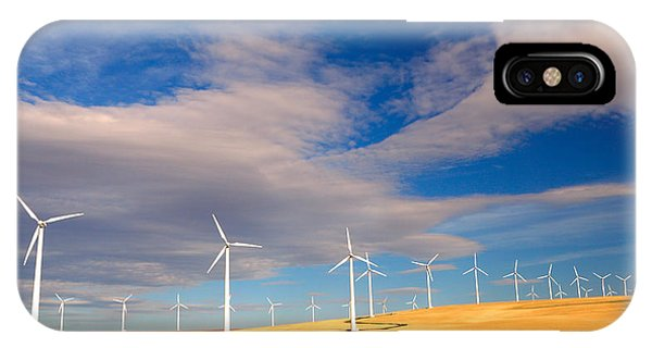 Wind Farm Against The Sky IPhone Case