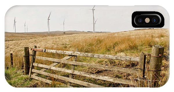 Wind Farm On Miller's Moss. IPhone Case