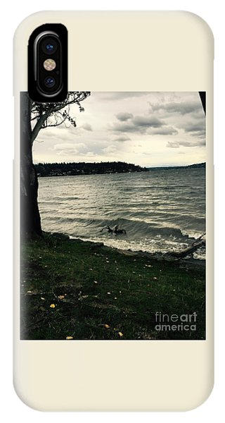 Wind Followed By Waves IPhone Case