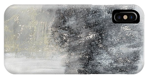 Grey Skies iPhone Case - Wind In My Sails- Abstract Art by Linda Woods