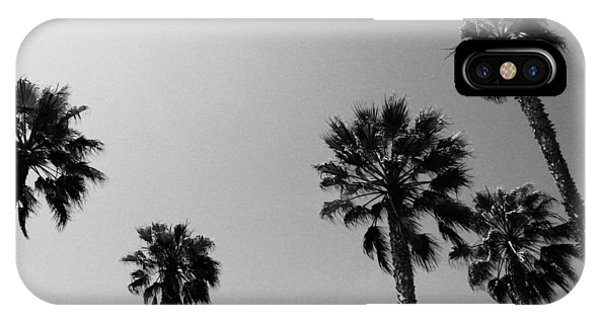 Palm Tree iPhone X Case - Wind In The Palms- By Linda Woods by Linda Woods