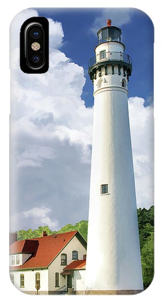 IPhone Case featuring the painting Wind Point Lighthouse by Christopher Arndt