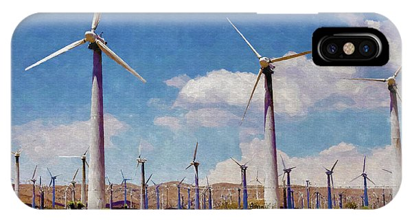 Windmill iPhone Case - Wind Power by Ricky Barnard